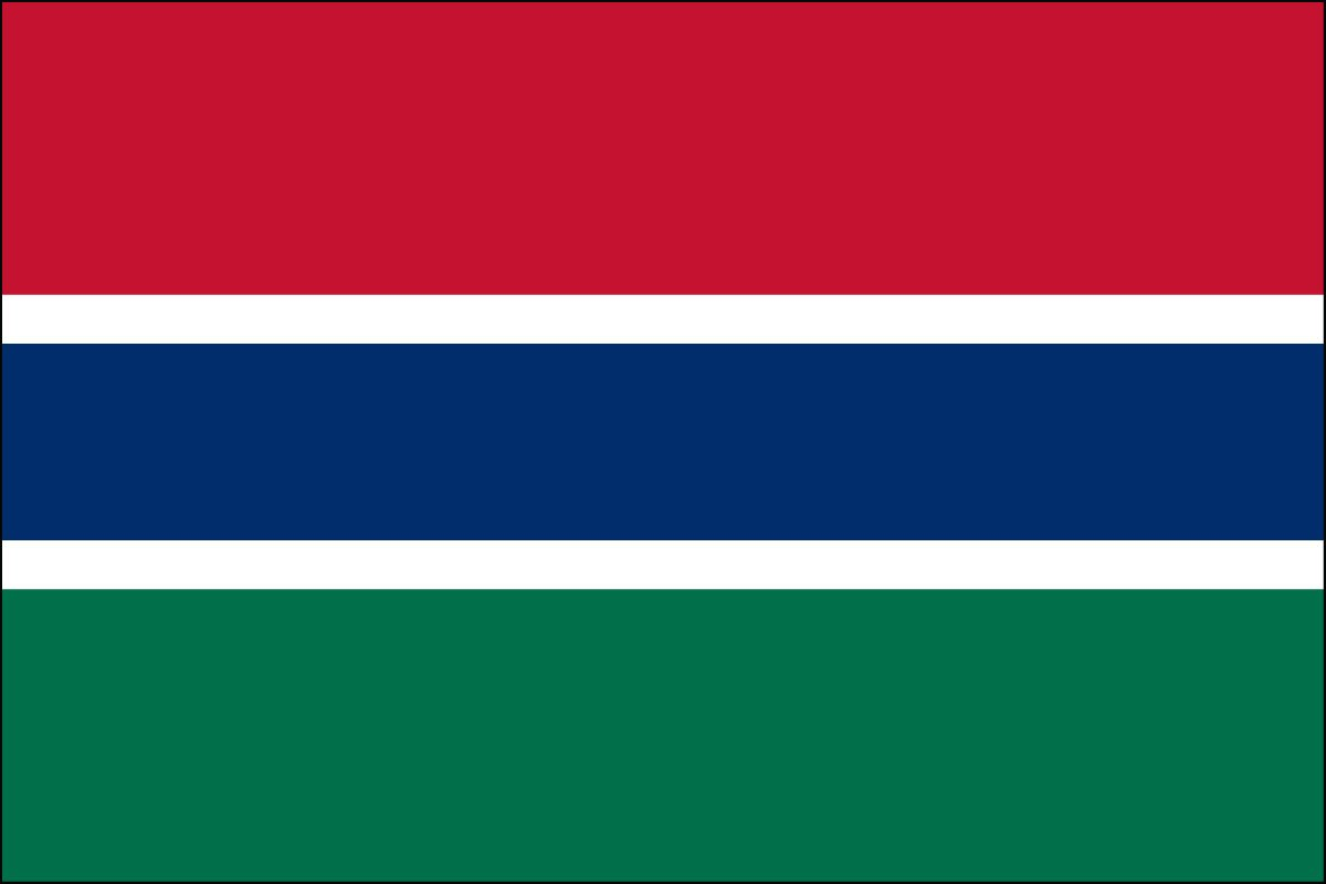 Gambia 2' x 3' Indoor Polyester Flag