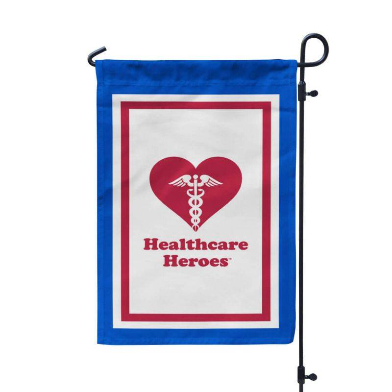 "Healthcare Heroes 12"" x 18"" Garden Banner Outdoor Flag"