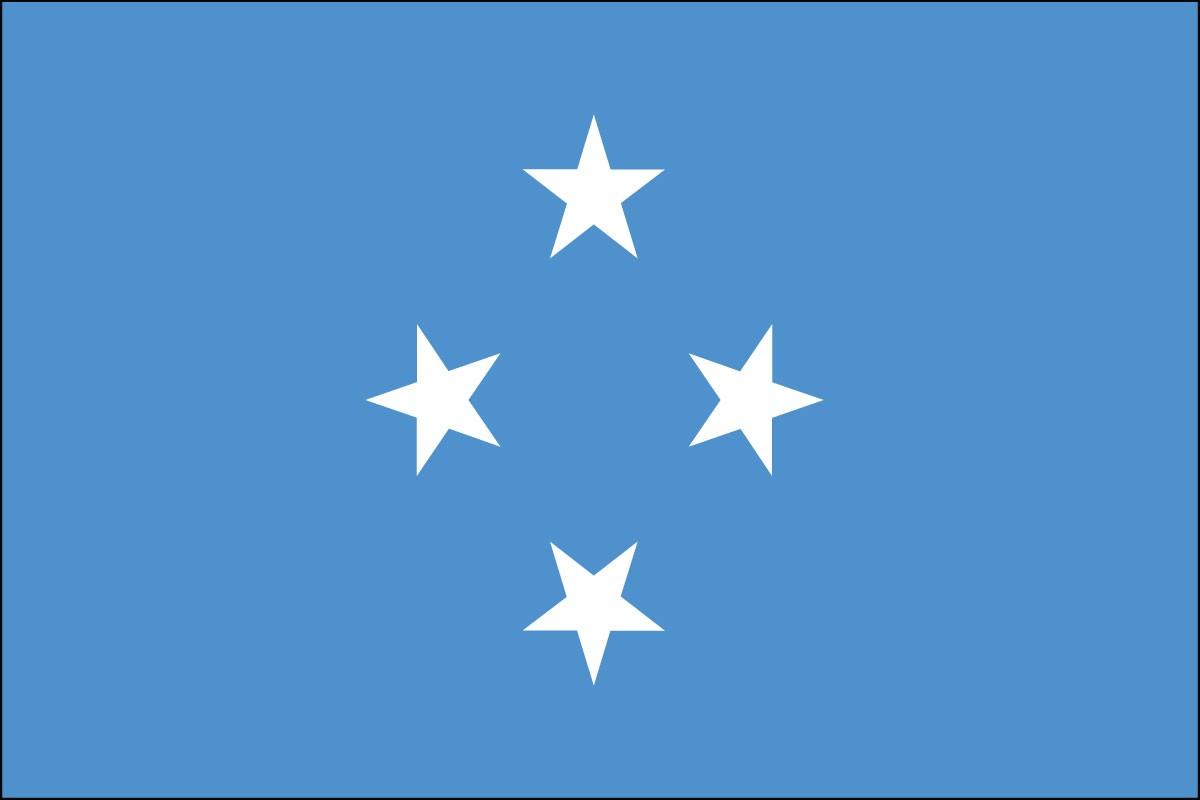 Micronesia 2' x 3' Indoor Polyester Flag