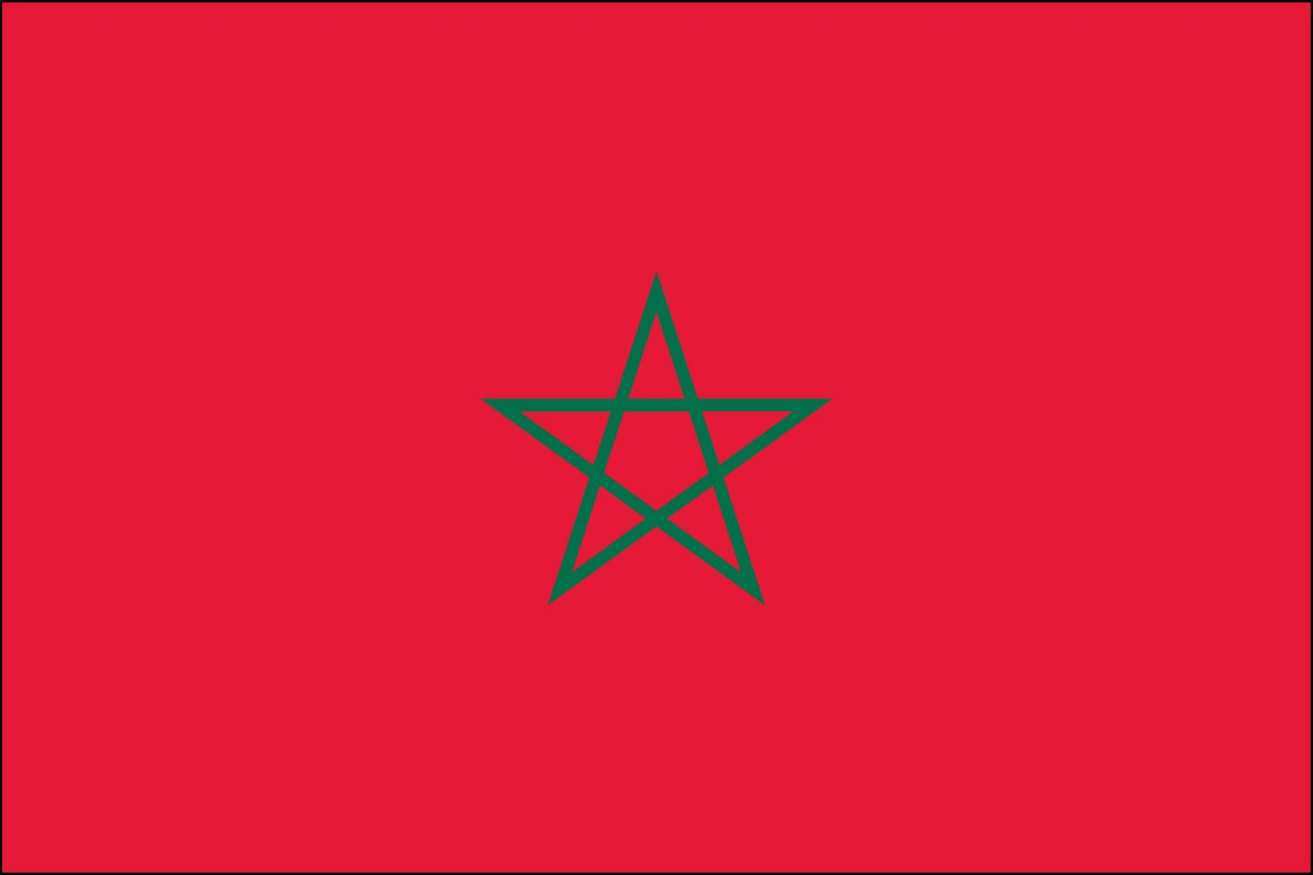 Morocco 2' x 3' Indoor Polyester Flag