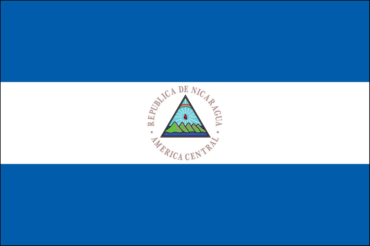 Nicaragua 2' x 3' Indoor Polyester Flag