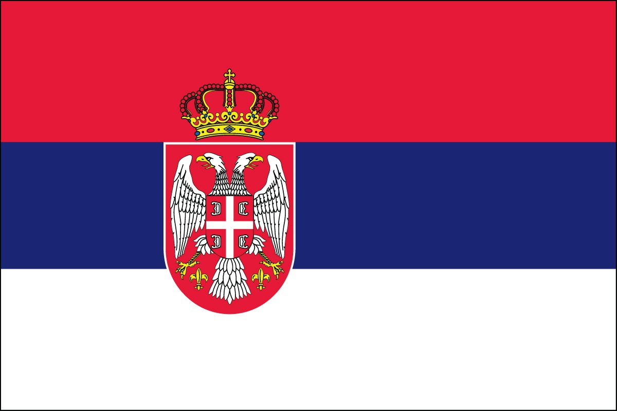 Serbia 2' x 3' Indoor Polyester Flag