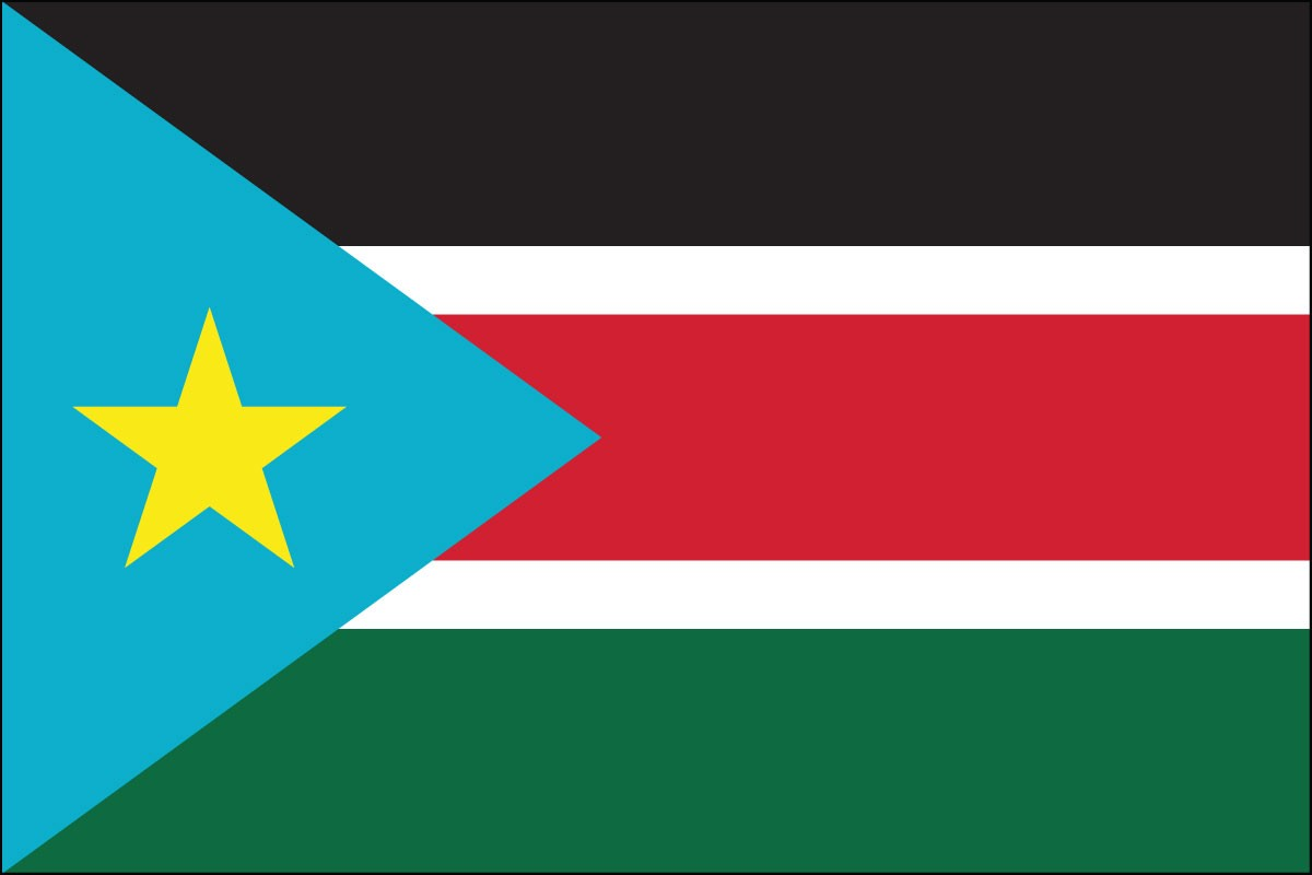 South Sudan 2' x 3' Indoor Polyester Flag