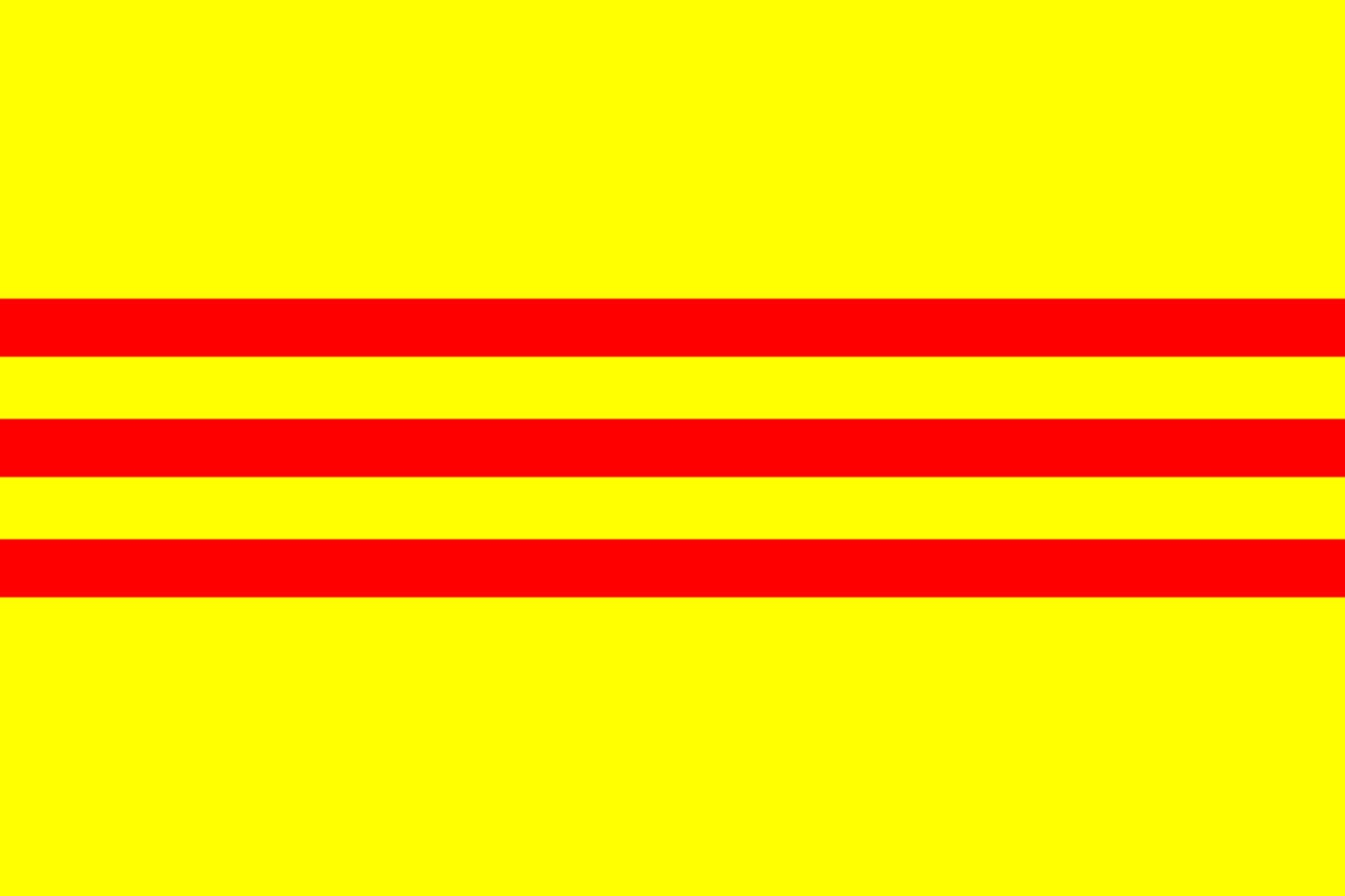 South Vietnam 2' x 3' Indoor Polyester Flag