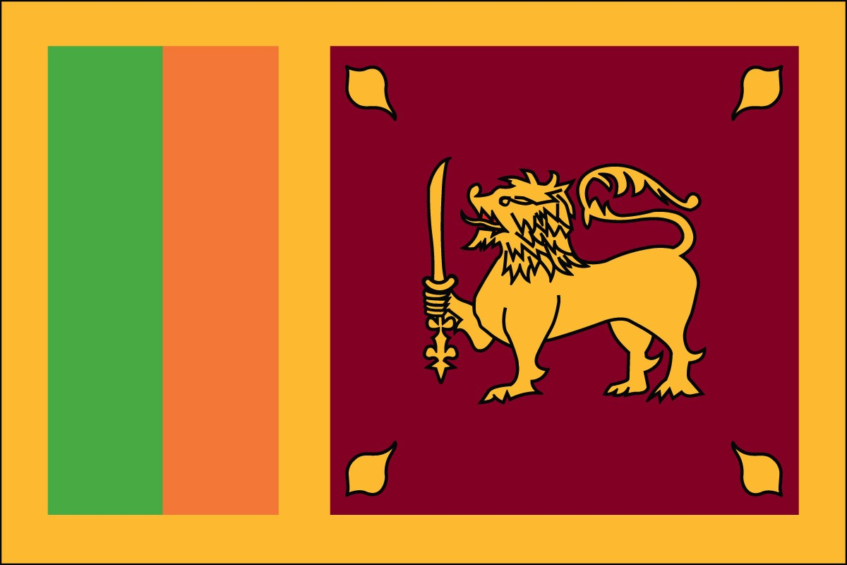Sri Lanka 2' x 3' Indoor Polyester Flag
