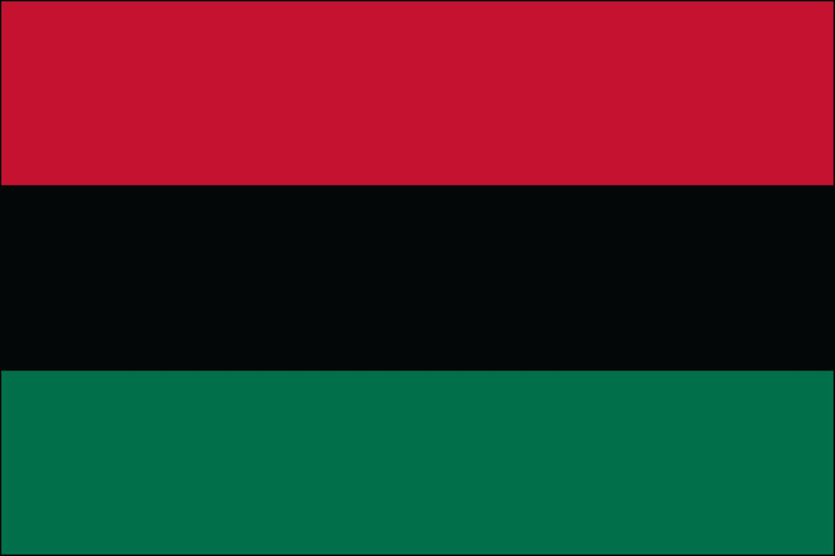 African American 3' x 5' Indoor Polyester Flag