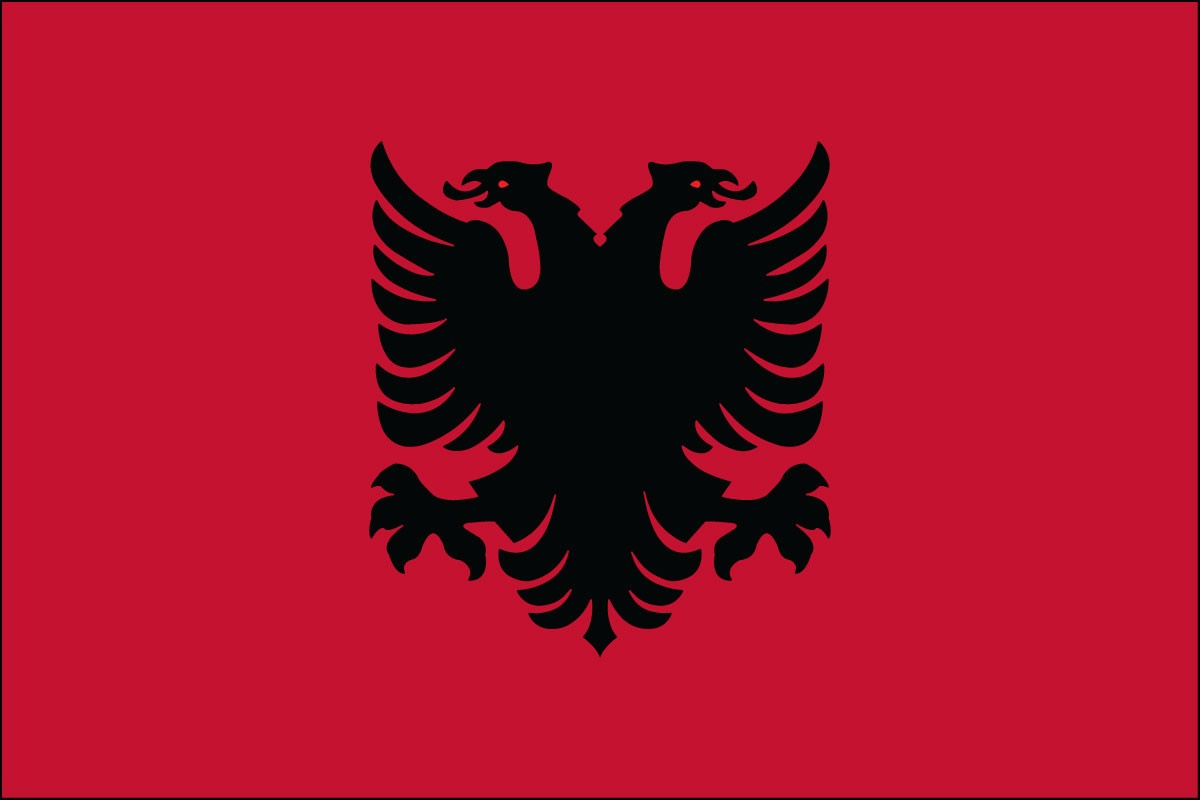 Albania 3' x 5' Indoor Polyester Country Flag