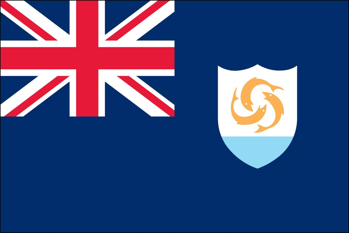 Anguilla 3' x 5' Indoor Polyester Territory Flag
