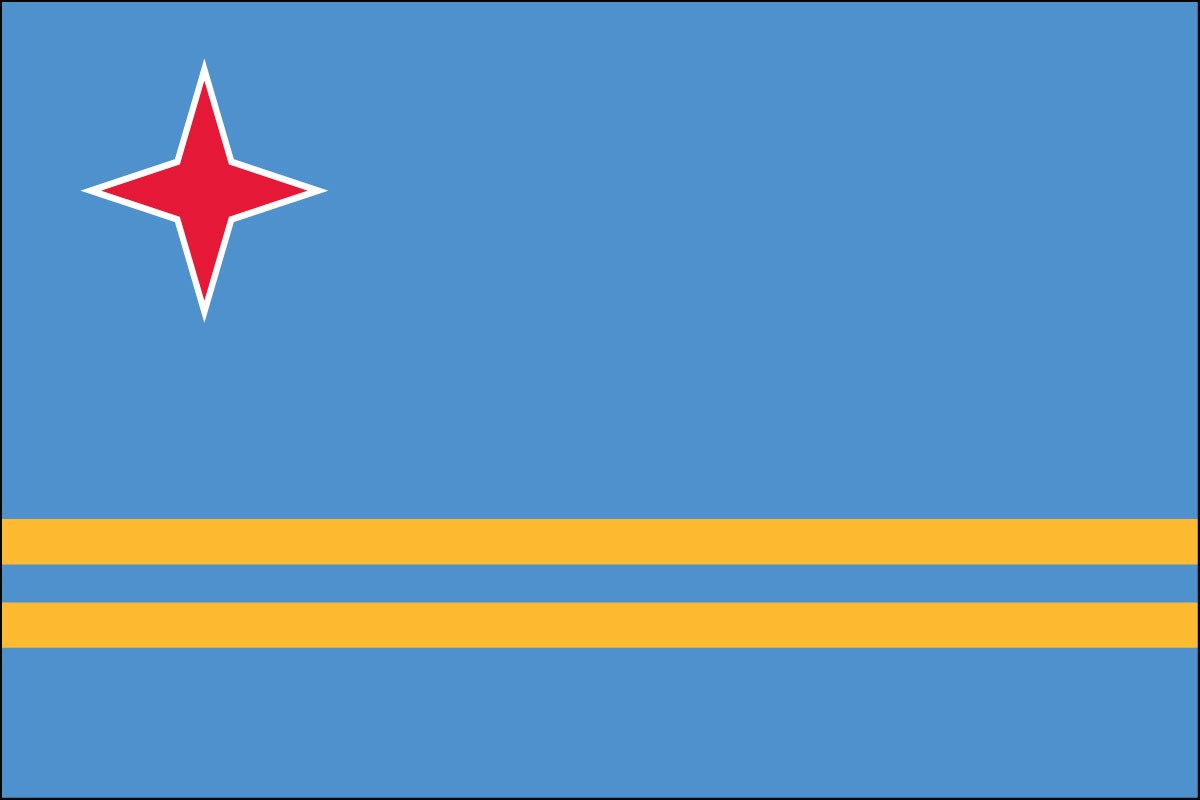 Aruba 3' x 5' Indoor Polyester Country Flag
