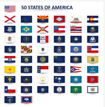 Set of 50 U.S State Flags 3'x5'feet Polyester