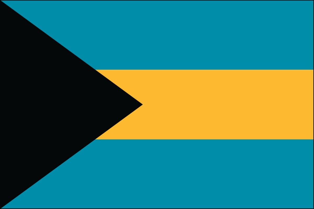 Bahamas 3' x 5' Indoor Polyester Country Flag