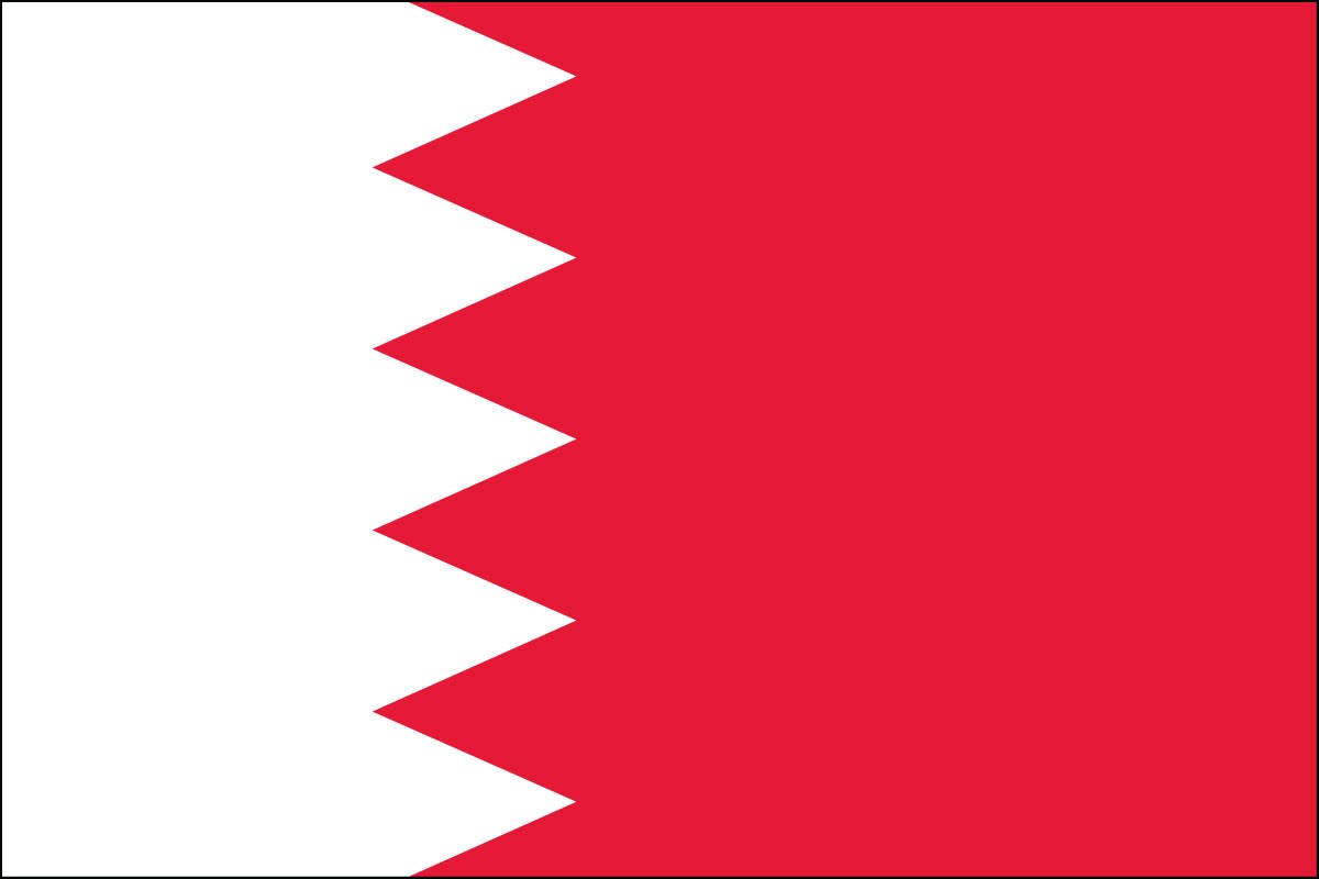 Bahrain 3' x 5' Indoor Polyester Country Flag