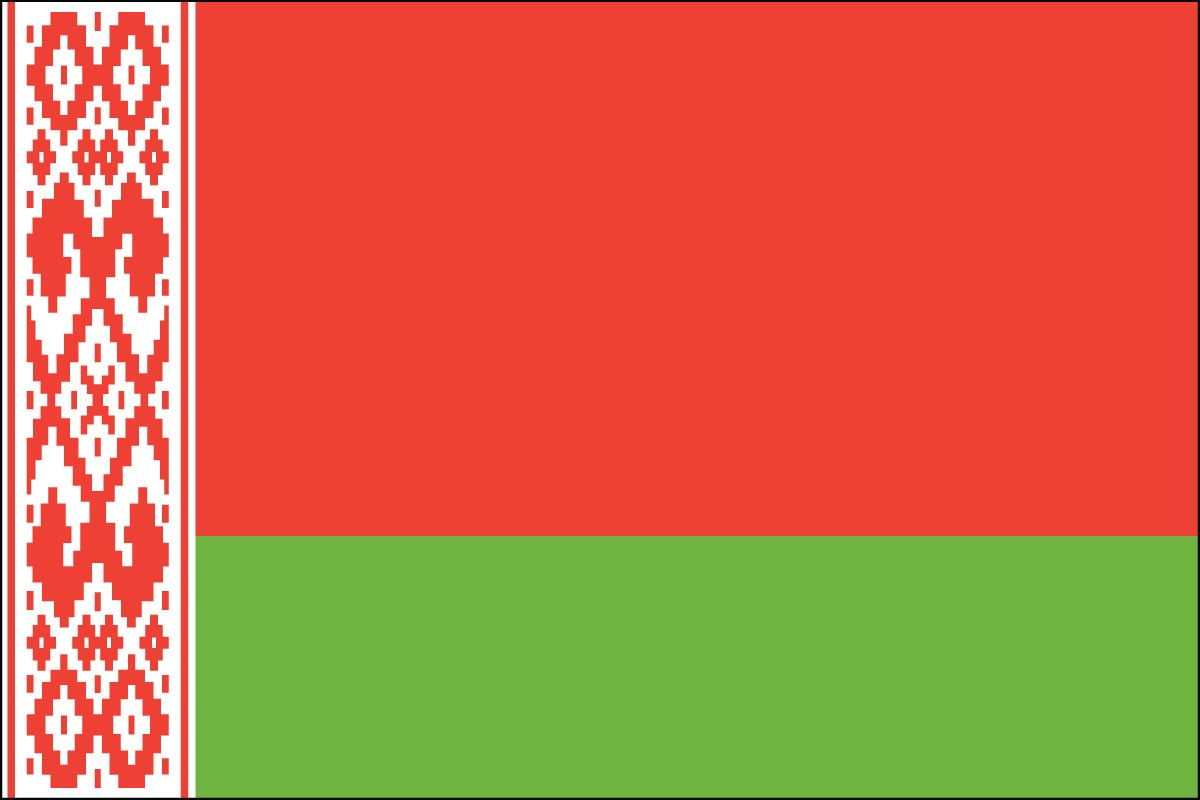 Belarus 3' x 5' Indoor Polyester Country Flag