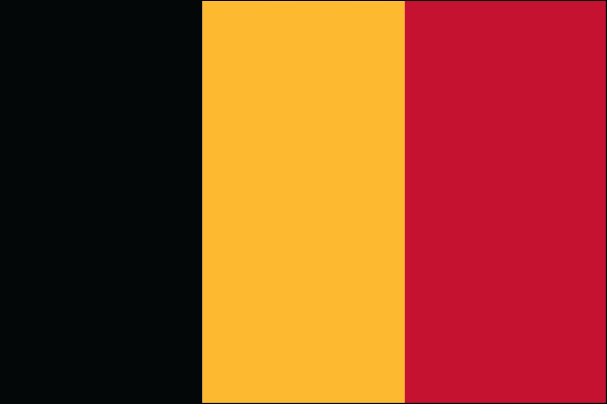 Belgium 3' x 5' Indoor Polyester Country Flag
