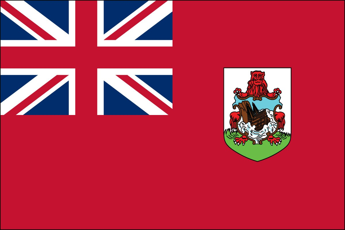 Bermuda 3' x 5' Indoor Polyester Country Flag