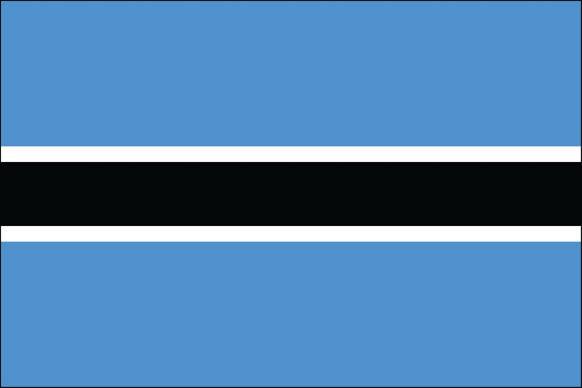 Botswana 3' x 5' Indoor Polyester Country Flag