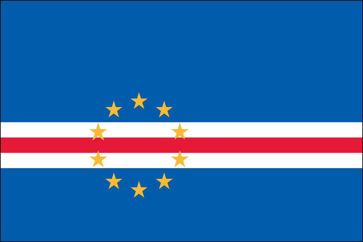 Cape Verde 3' x 5' Indoor Polyester Flag