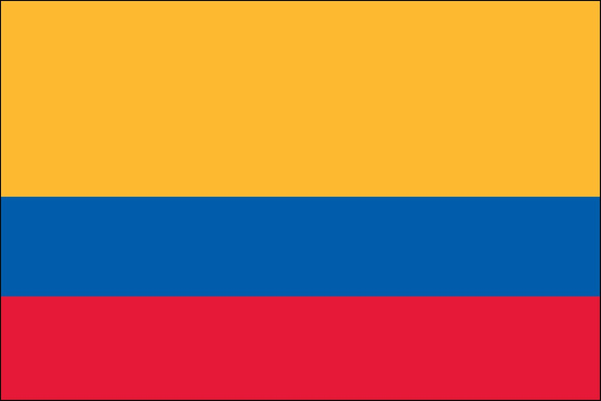 Colombia 3ft x 5ft Indoor Polyester Flag