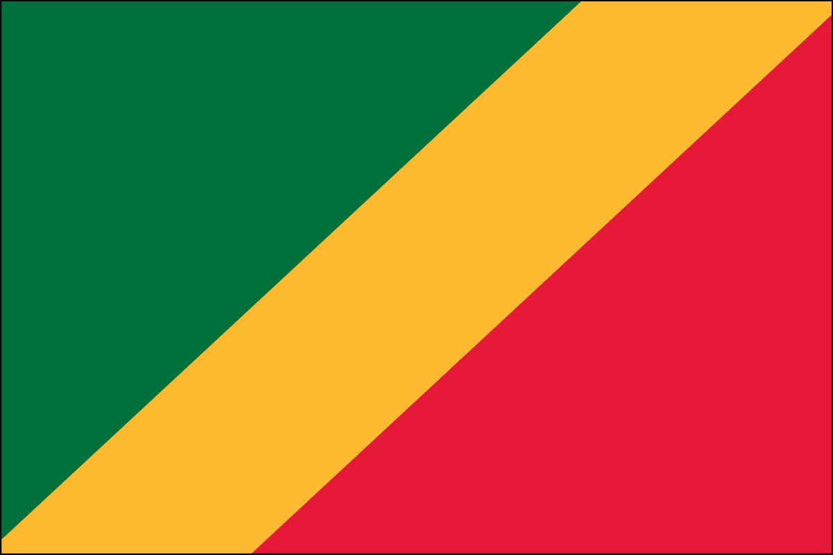 Congo 3' x 5' Indoor Polyester Flag