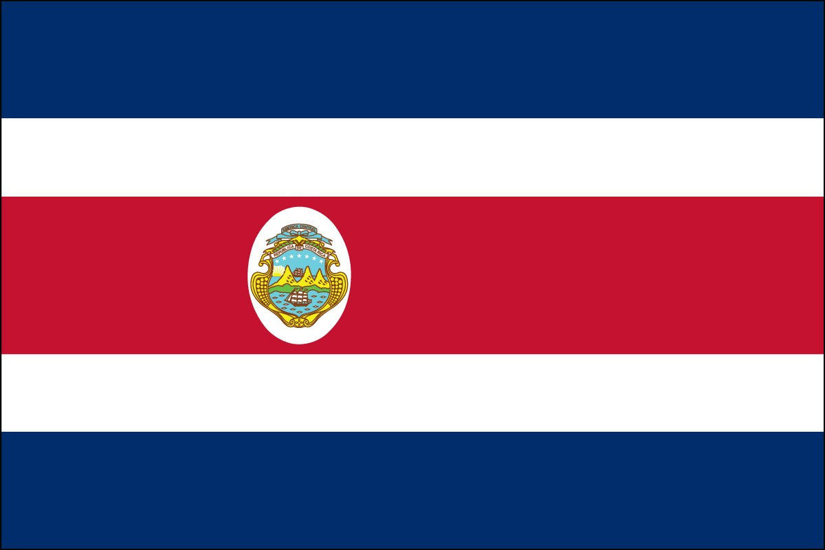 Costa Rica 3ft x 5ft Indoor Polyester Flag