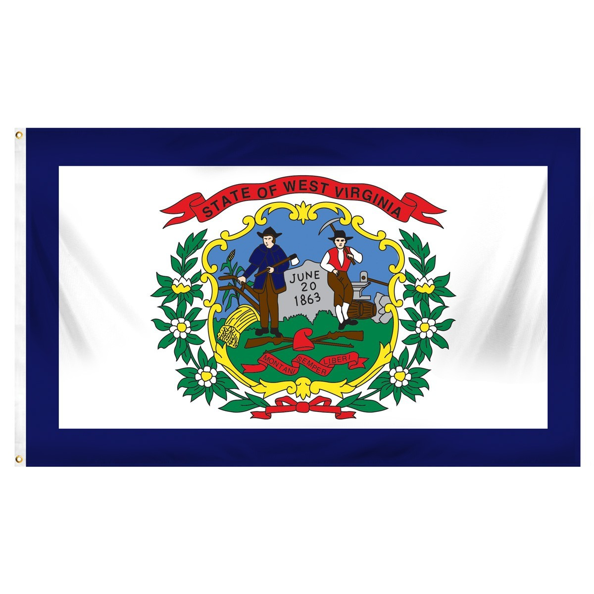 West Virginia  2' x 3' Indoor Polyester Flag