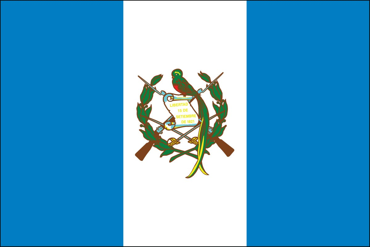 Guatemala 3' x 5' Indoor Polyester Flag