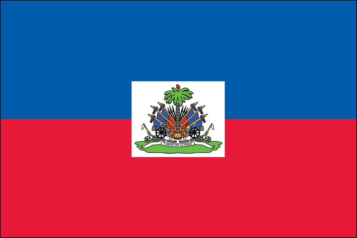 Haiti 3' x 5' Indoor Polyester Flag