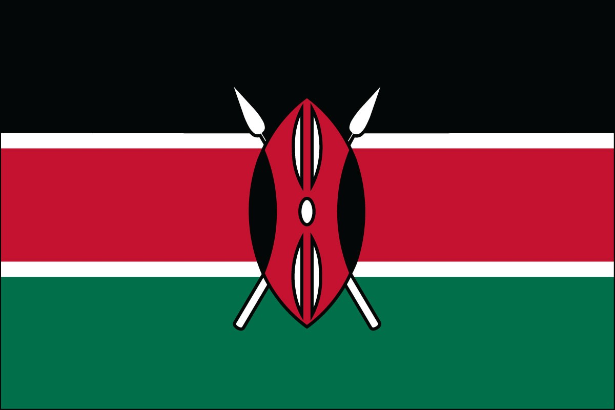 Kenya 3' x 5' Indoor Polyester Flag