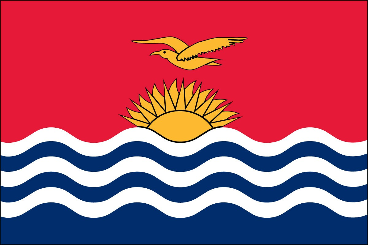 Kiribati 3' x 5' Indoor Polyester Flag
