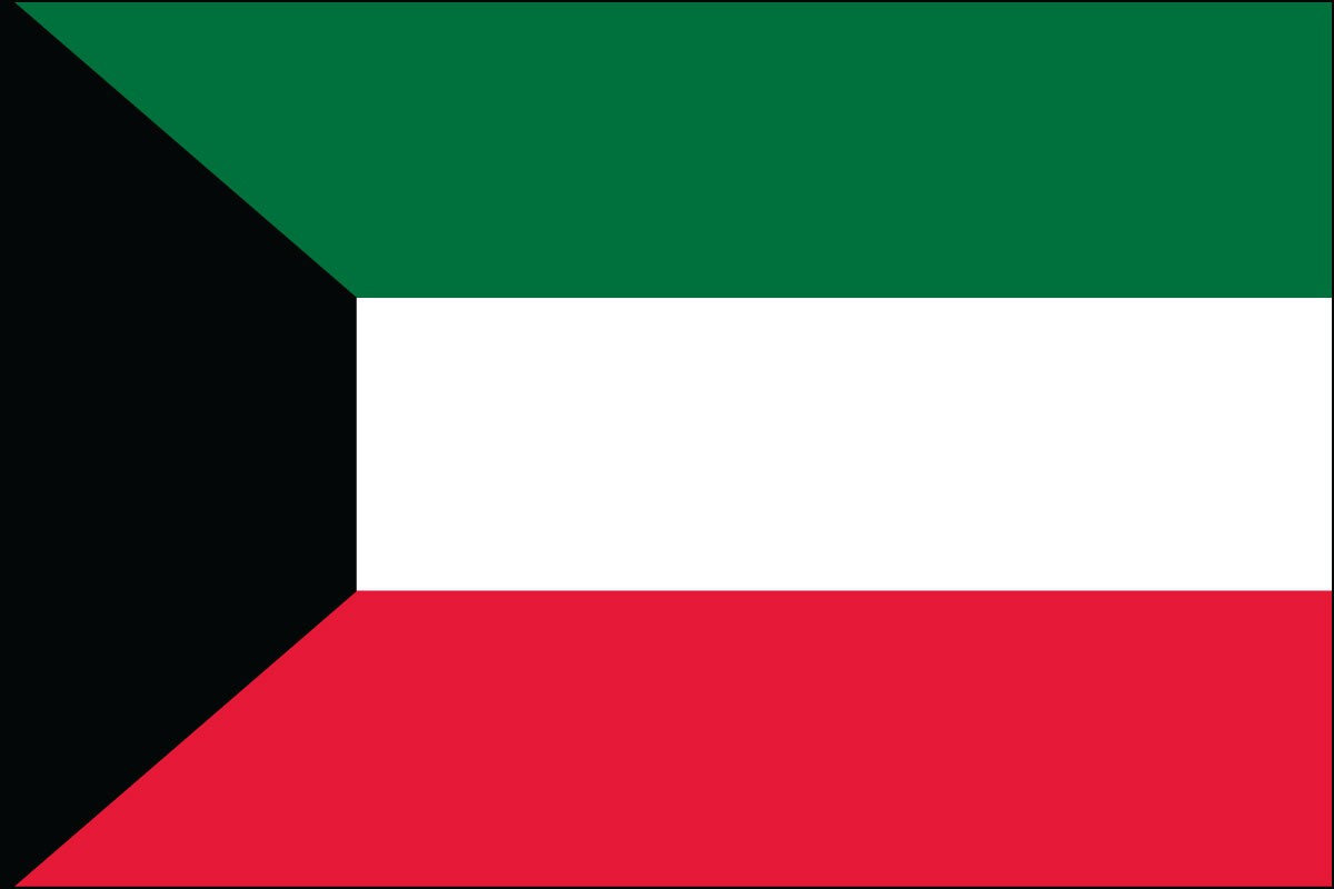 Kuwait 3' x 5' Indoor Polyester Flag