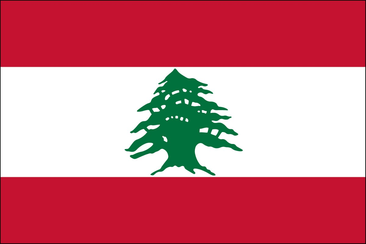 Lebanon 3' x 5' Indoor Polyester Flag