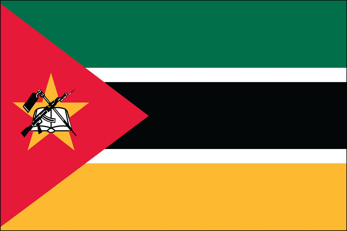 Mozambique 3' x 5' Indoor Polyester Flag