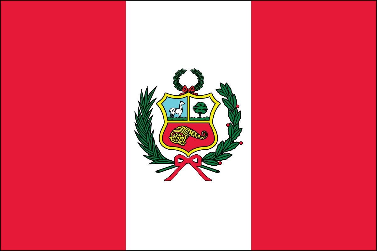 Peru 3' x 5' Indoor Polyester Flag