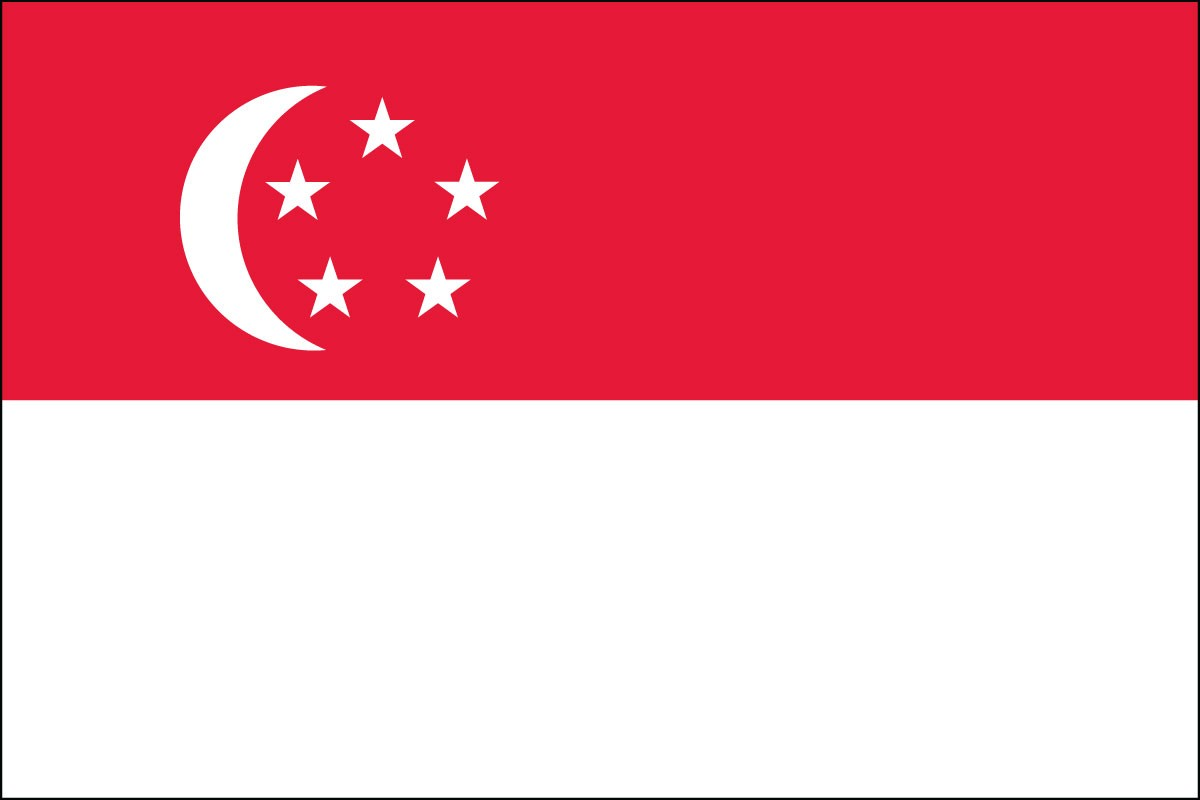 Singapore 3' x 5' Indoor Polyester Flag