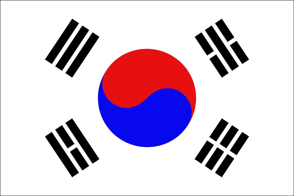 South Korea 3' x 5' Indoor Polyester Flag