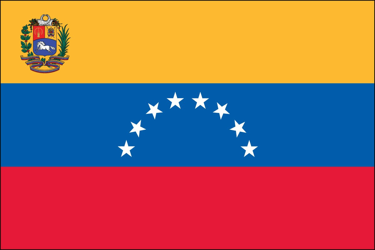 Venezuela with Seal 3' x 5' Indoor Polyester Flag