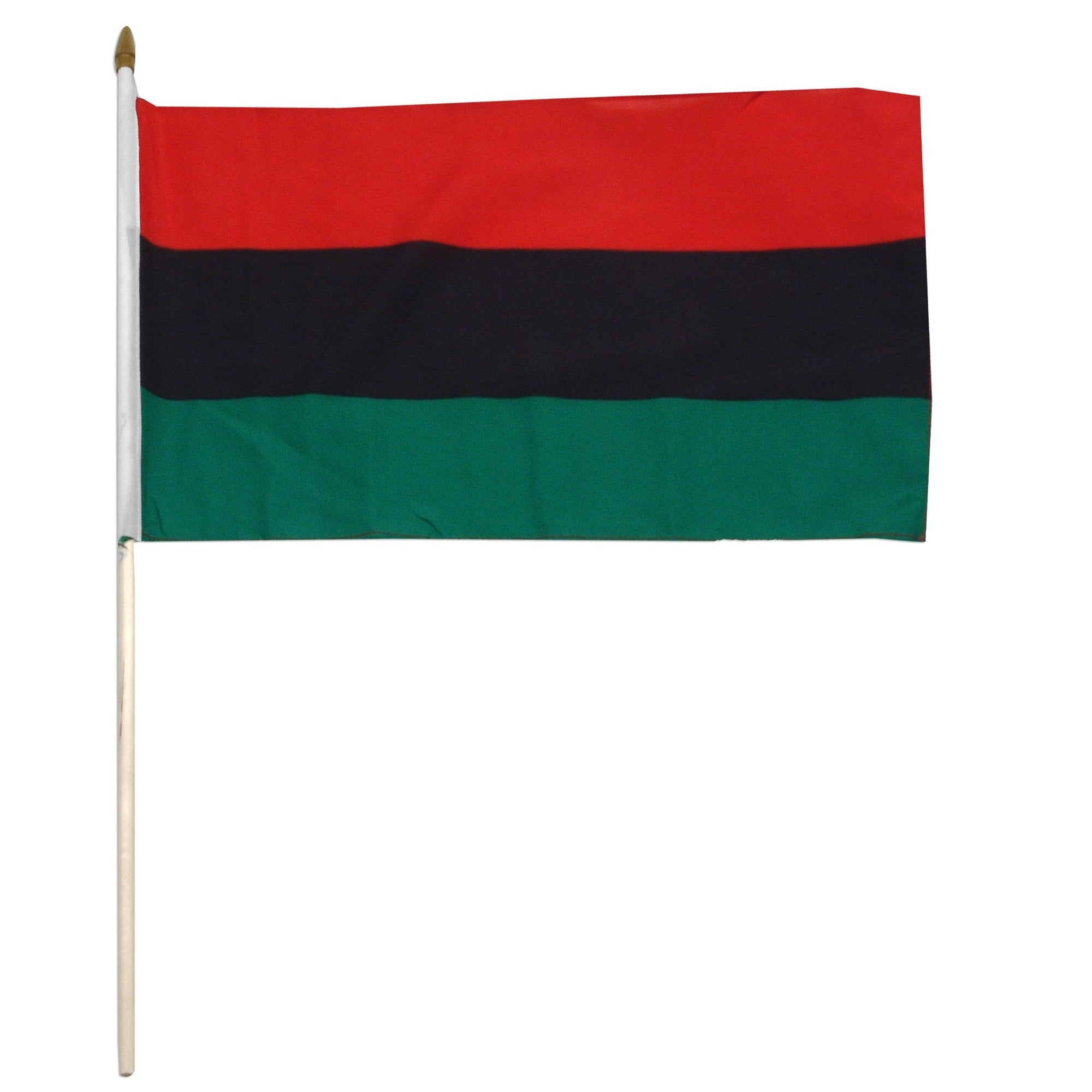 "African-American 12"" x 18"" Mounted Flag"