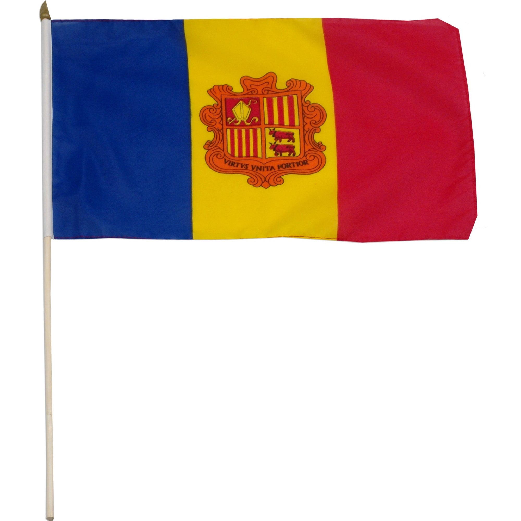 "Andorra 12"" x 18"" Mounted Country Flag"