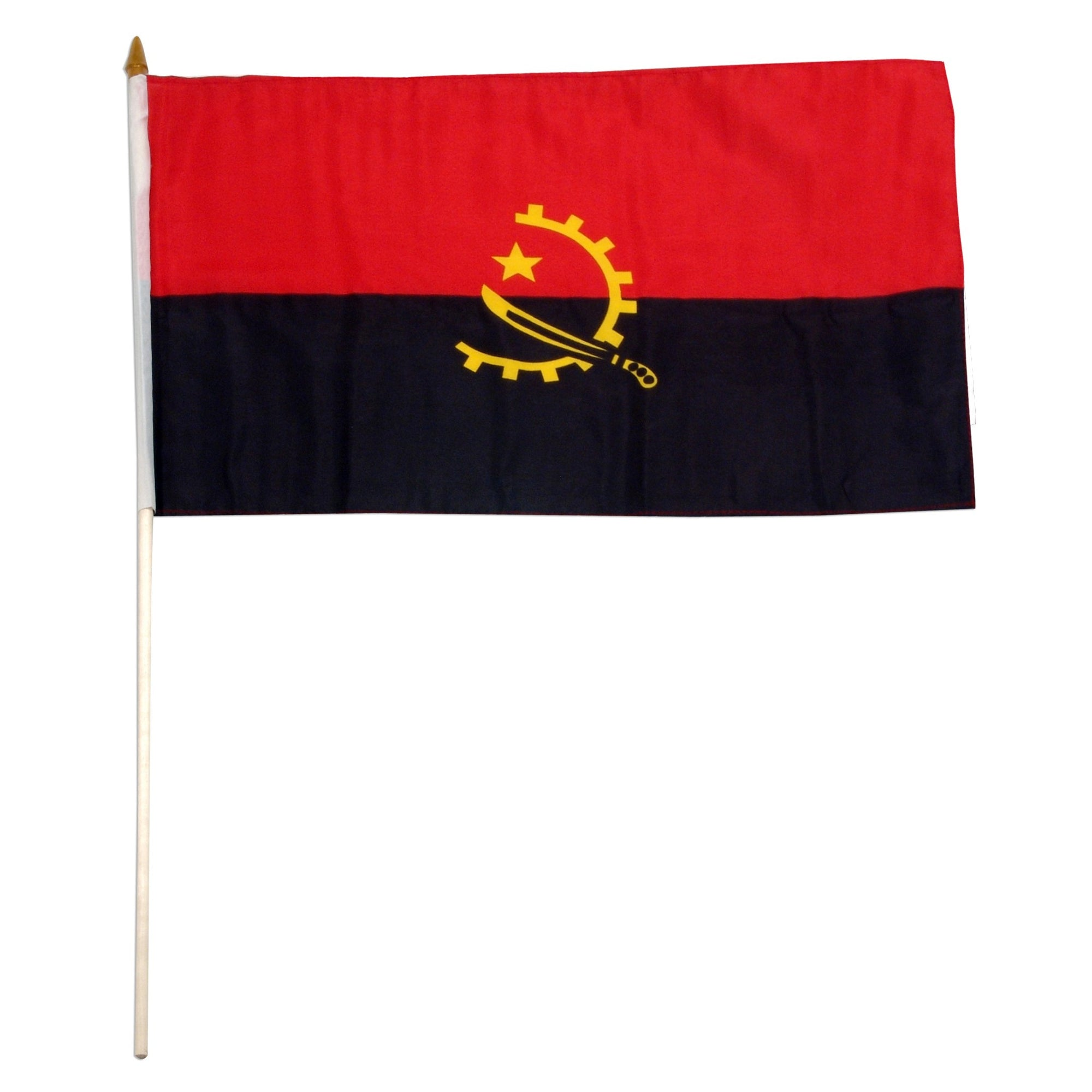 "Angola 12"" x 18"" inch Mounted Country Angolan Flag"
