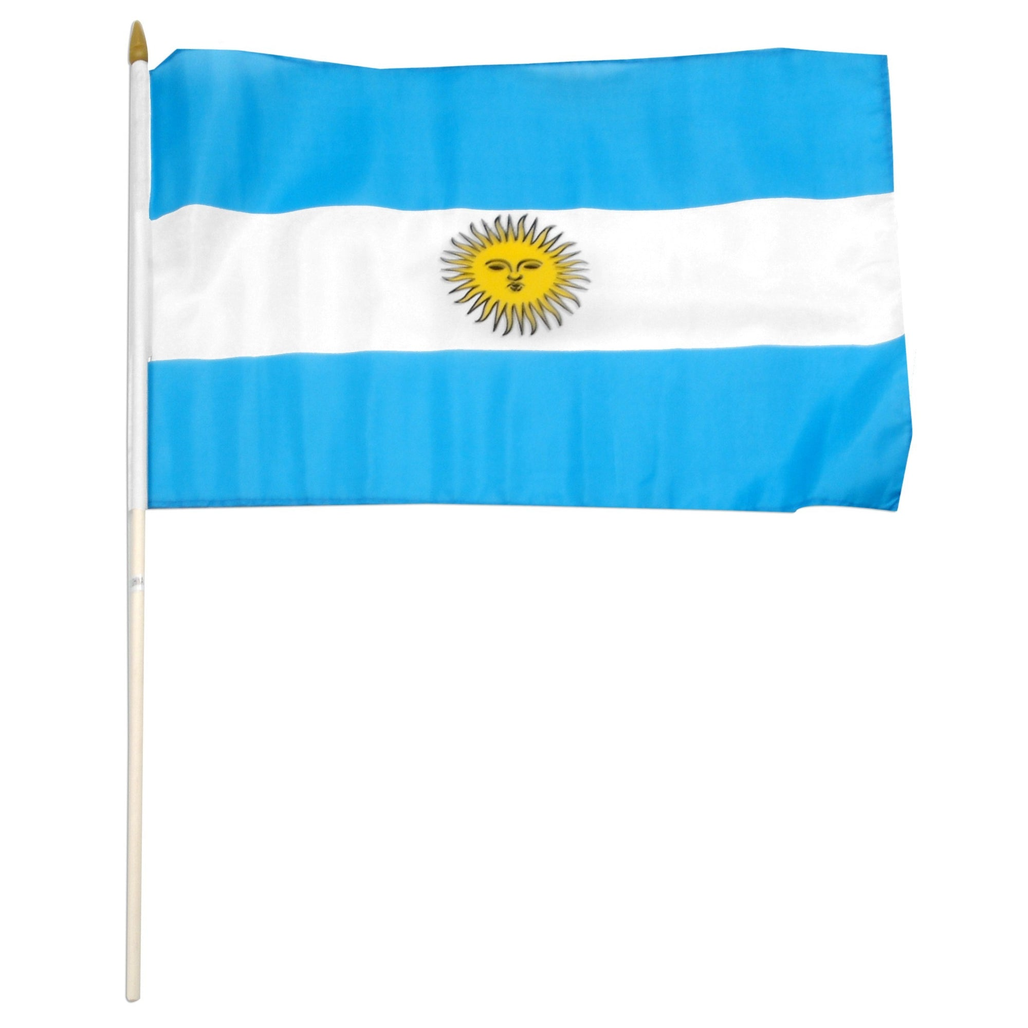 "Argentina 12"" x 18"" Mounted Stick World Country Flag"