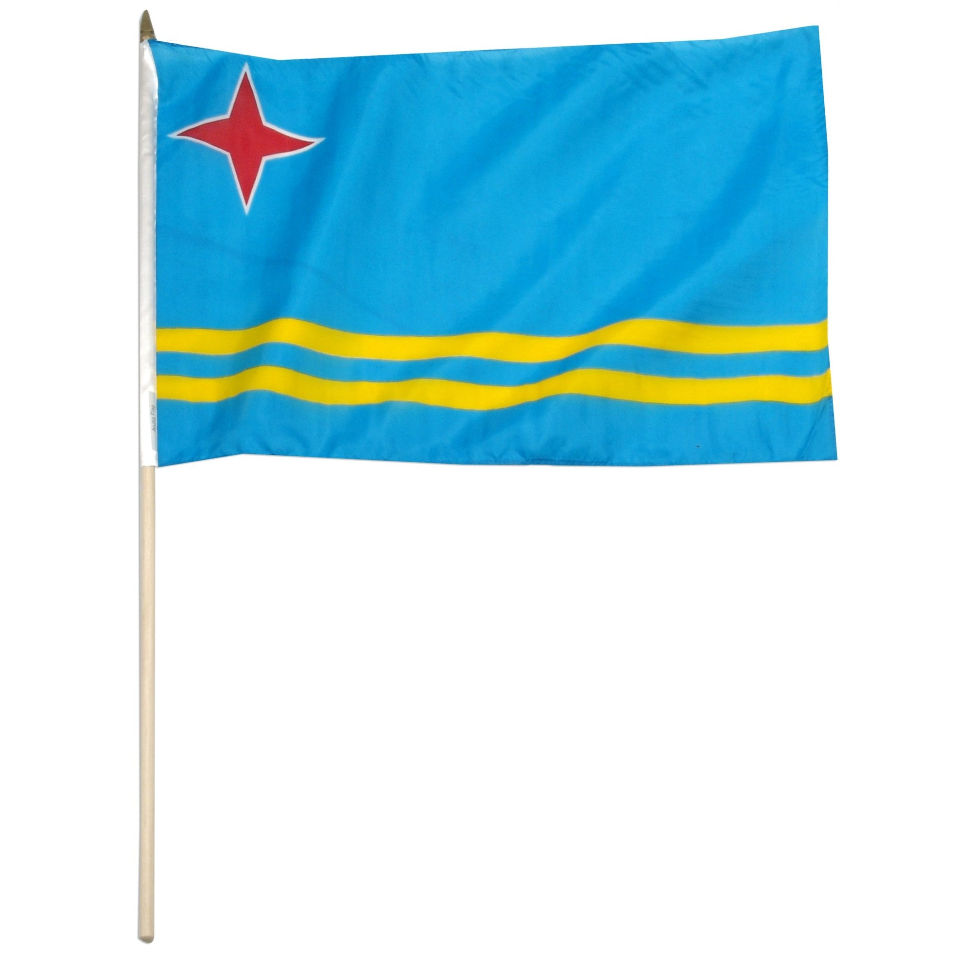 "Aruba 12"" x 18"" Mounted Country Flag"