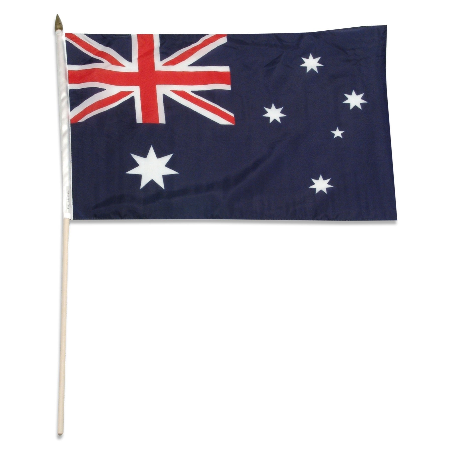 "Australia 12"" x 18"" Inch Mounted Stick Australian Country Flag"