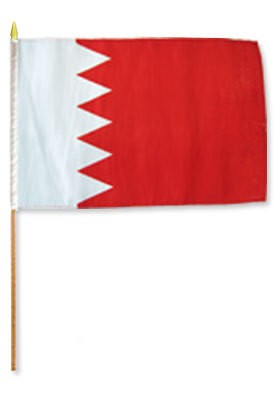 "Bahrain 12"" x 18"" Mounted Country Flag"