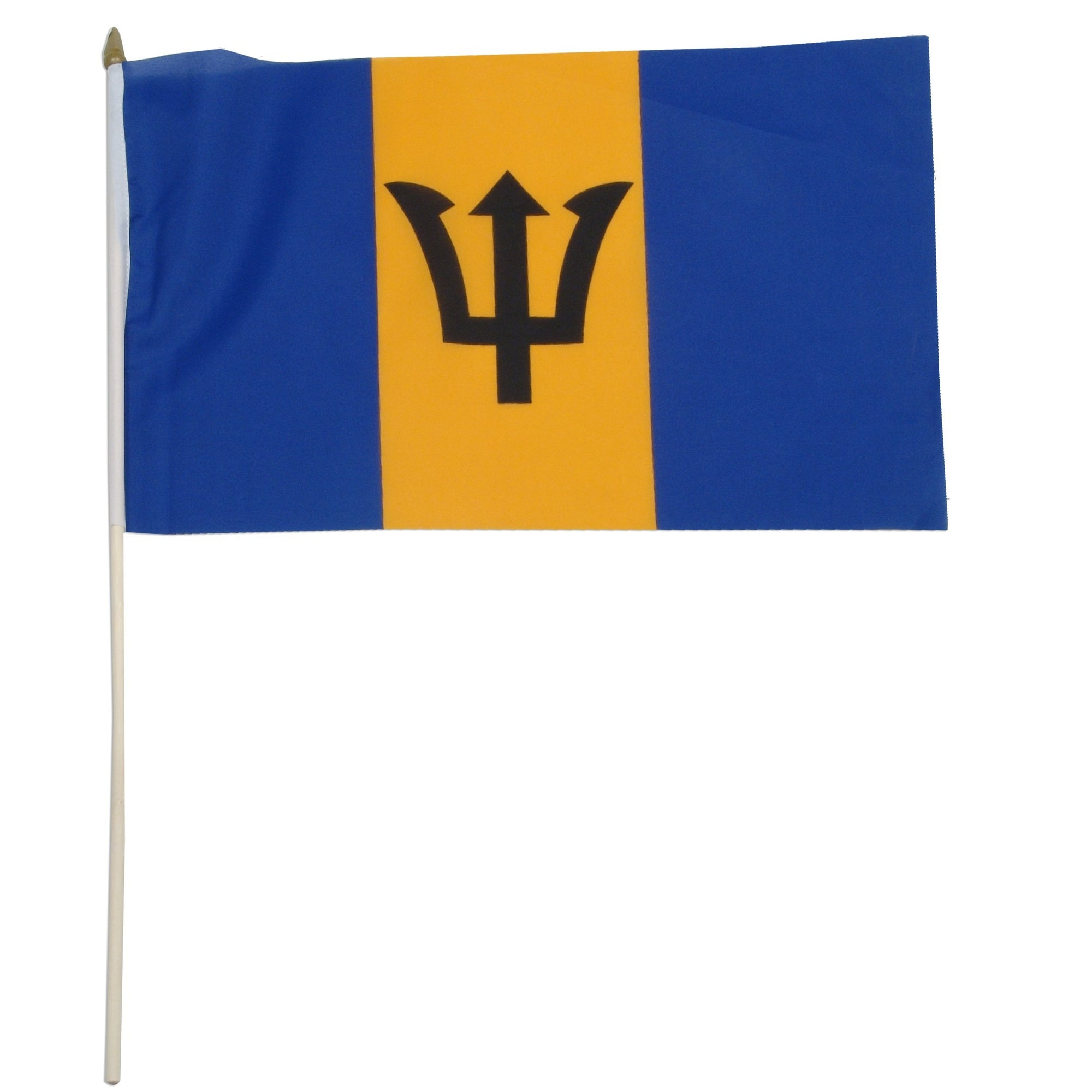 "Barbados 12"" x 18"" Mounted Country Flag"