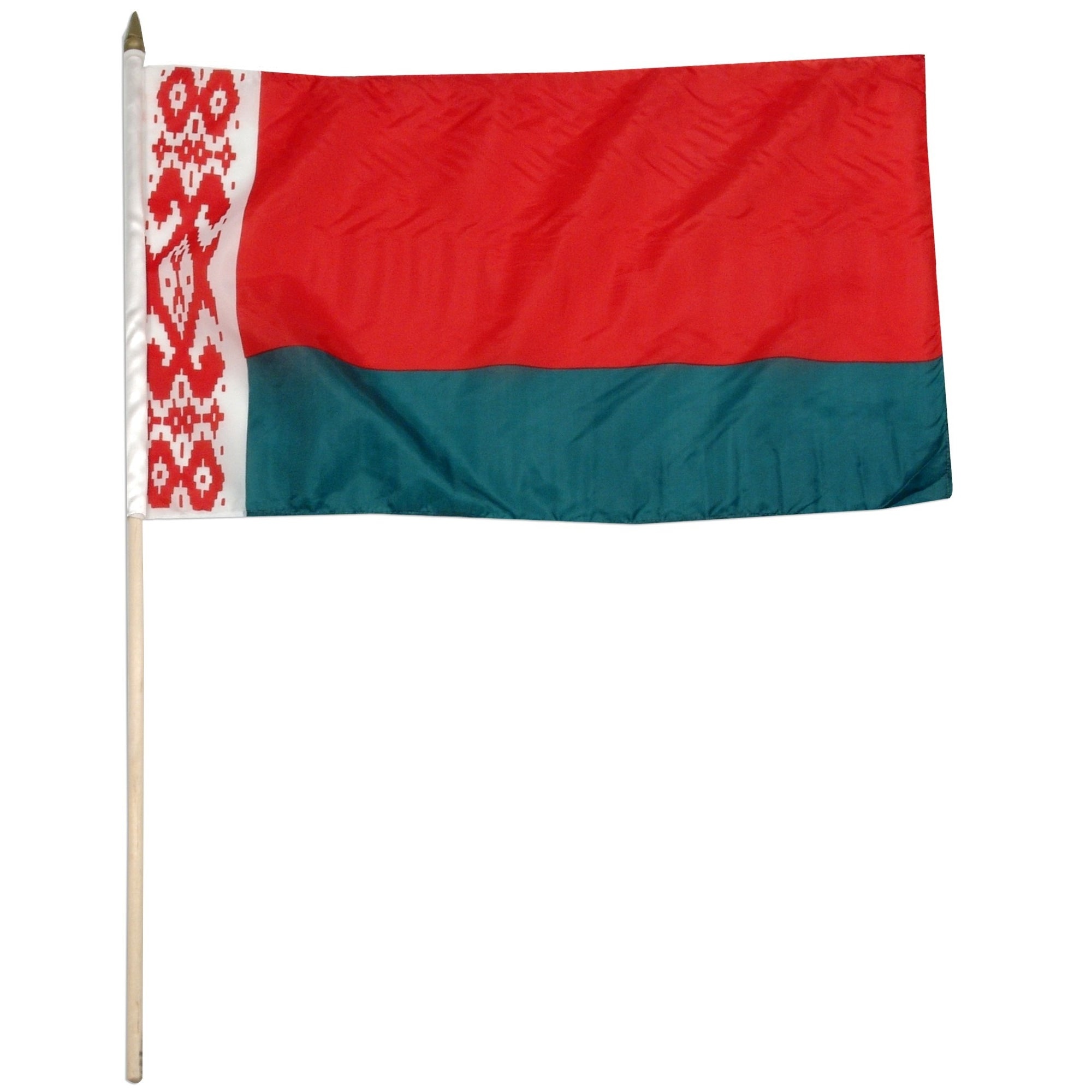 "Belarus 12"" x 18"" Mounted Flag"