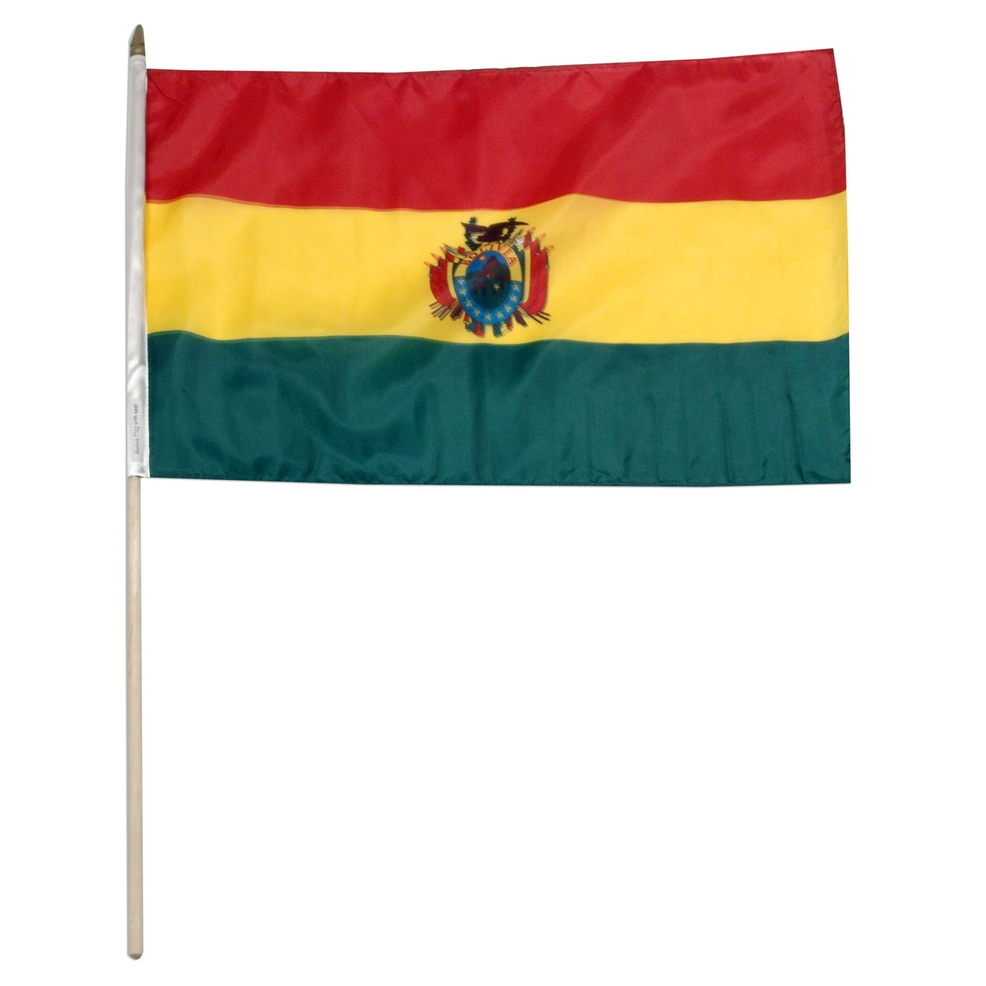 "Bolivia 12"" x 18"" Mounted Country Flag"