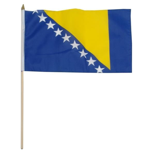 "Bosnia-Herzegovina 12"" x 18"" Mounted Country Flag"
