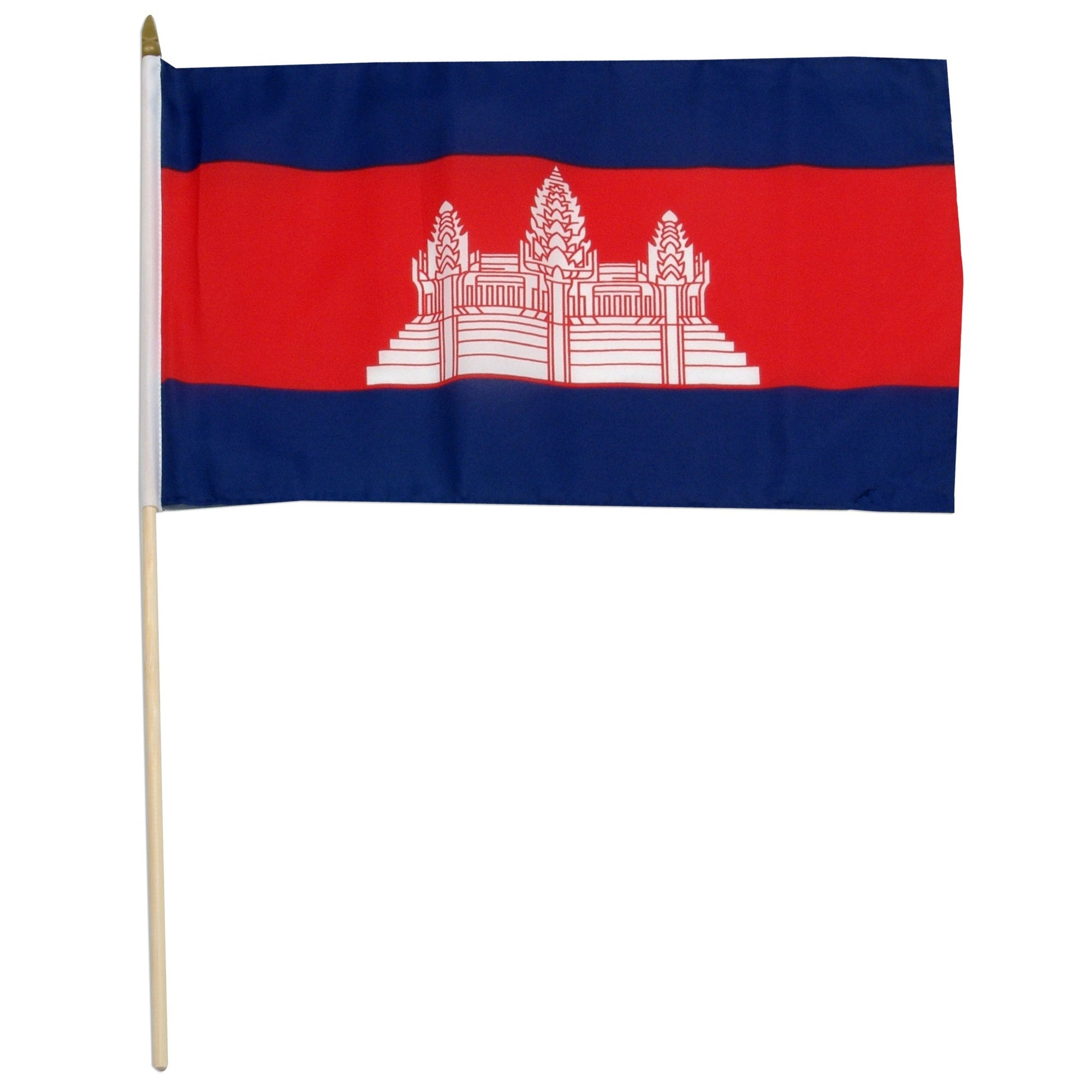 "Cambodia 12"" x 18"" Mounted Flag"