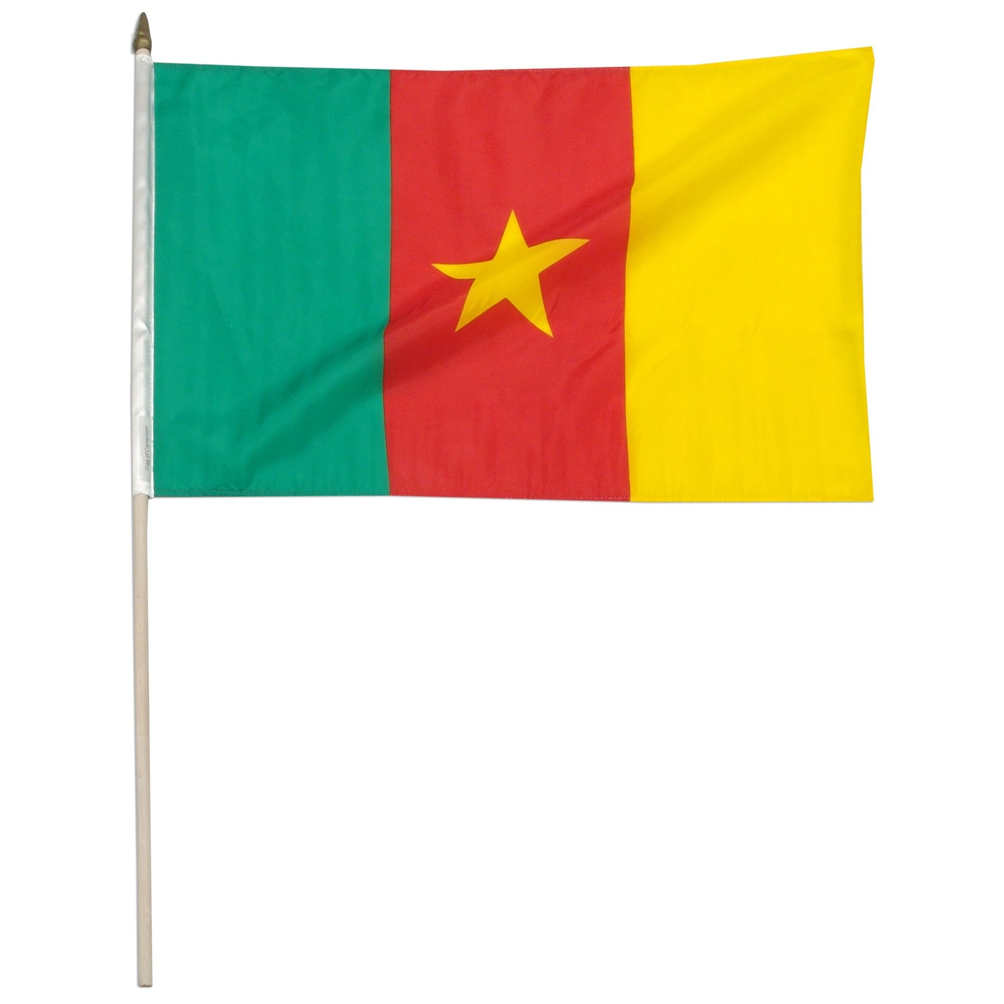 "Cameroon 12"" x 18"" Mounted Flag"