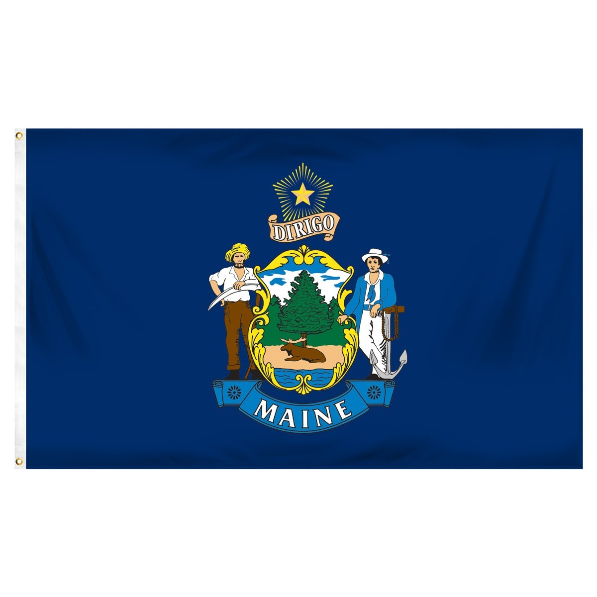 Maine  3' x 5' Indoor Polyester Flag